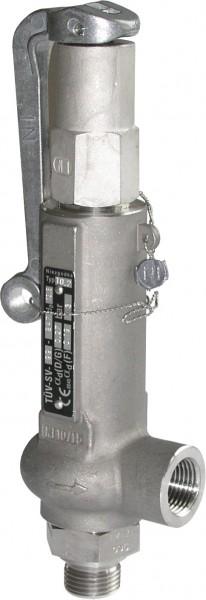 """Normal Feder Sicherheitsventil Type 10.2A, 1"""" x 1"""", metallisch"""