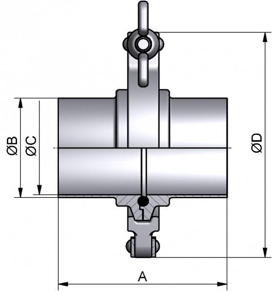 PharmCom Klemmverbindung, DIN, DIN 11864, 1.4435, DN 40 (41x1,5mm)
