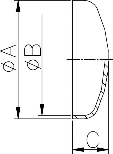 """Gewölbter Boden, ZOLL, AISI 316L pol., 4"""" (101,6x2mm)"""