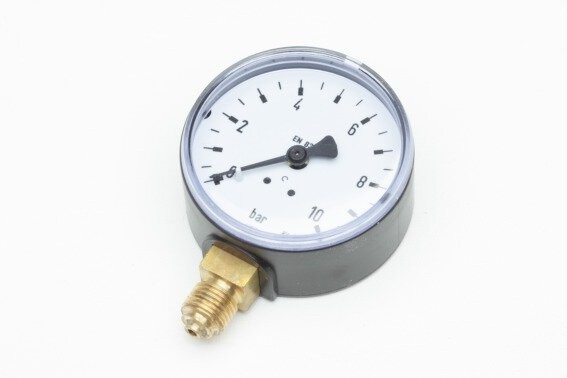 "Rohrfeder-Manometer, NG 50 mm, 0 - 16 bar, Kl. 1,6, U 1/4"""