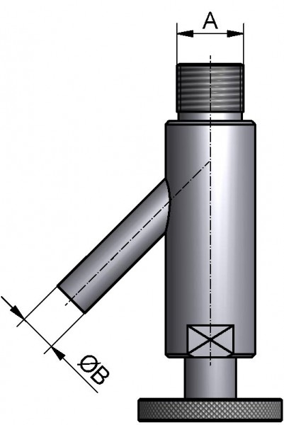 Entlüftungsventil, AISI 304 pol., Kegel/Mutter DN20