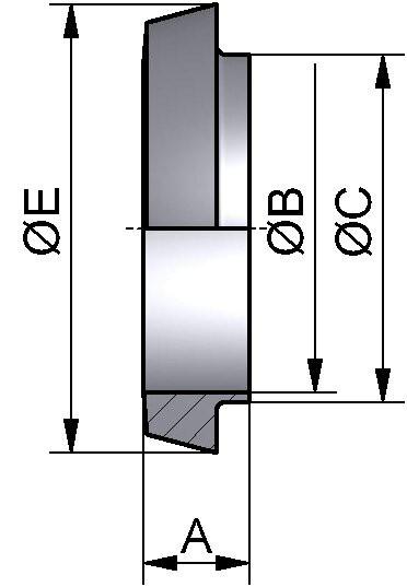 Kegelstutzen kurz, DIN 11851, AISI 304 bl., DN 10 (13x1,5mm)