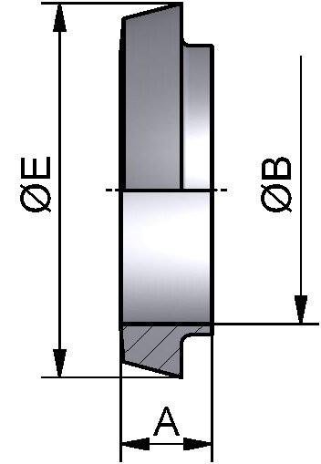 Kegelstutzen kurz, AISI 304 bl., DN 50 (53x1,5mm)