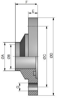 Hygiene Nutflansch FN1, V, DIN, AISI 316L bl., DN 65 (70x2mm)