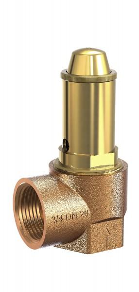 """Membran-Sicherheitsventil aus Rotg. Art.652mFK, 1"""", für neutr. Flüssigkeiten"""