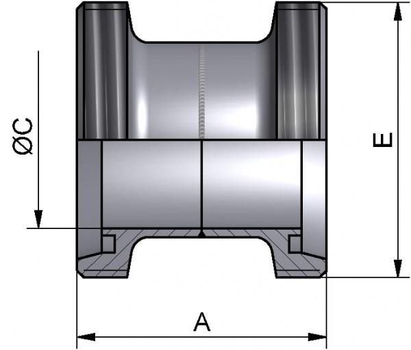 Verbindungsstück, DIN-GG, AISI 316L matt, DN 80