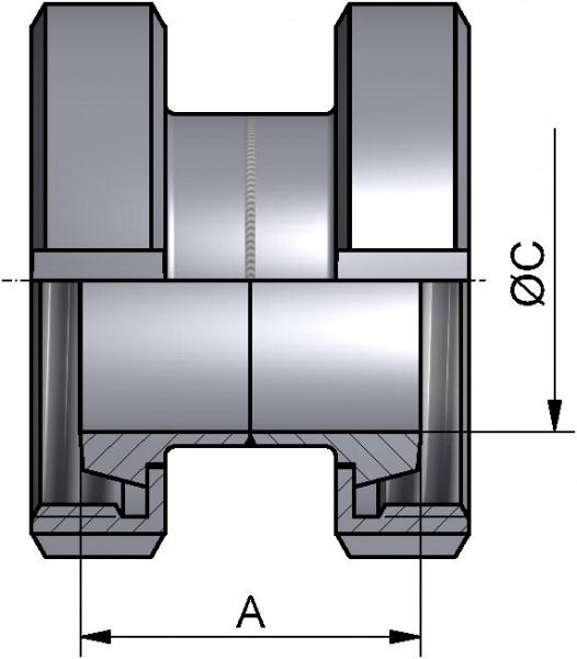 Verbindungsstück, DIN-KK, AISI 316L matt, DN 100