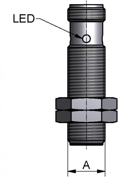 "Näherungsinitiator-induktiv M12x1, DN 15-200 /1""-4"", 24V DC, NO, PNP 3-Leiter"