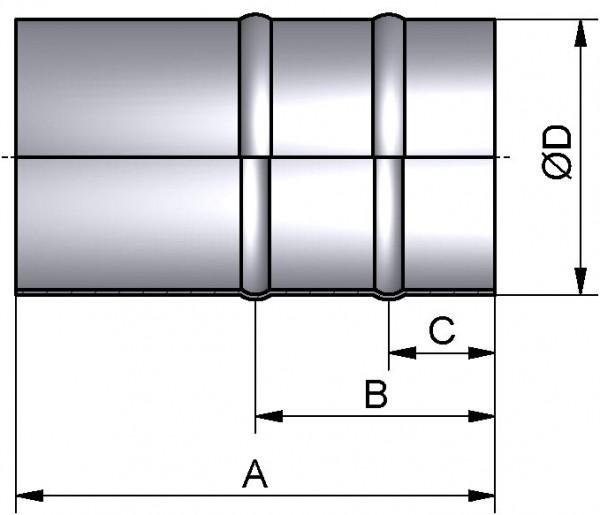 Schlauchtülle, DIN-ROHR, AISI 304 pol., DN 100