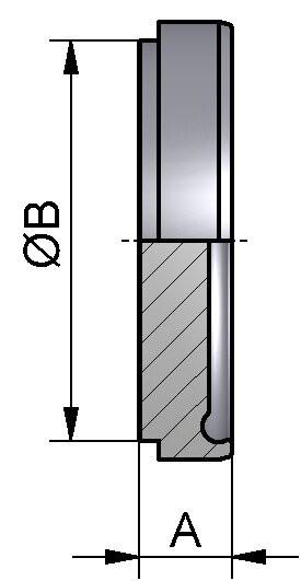 PharmCom Blindbundstutzen, DIN, DIN 11864, 1.4435, DN 80