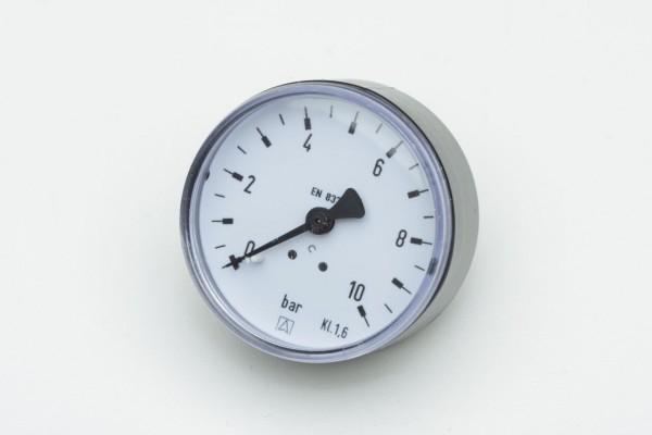 "Rohrfeder-Manometer, NG 63 mm, 0 - 0,6 bar, Kl. 1,6, H 1/4"""