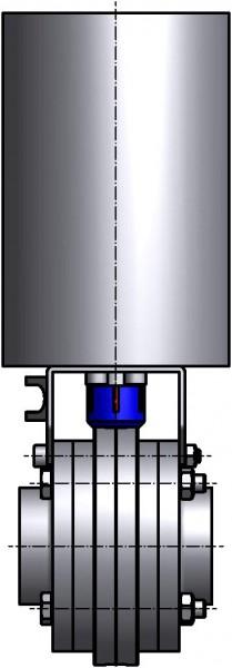 M&S Scheibenventil SV04, DIN-ZF, AISI 304 bl., DN 125, Silikon (VMQ)