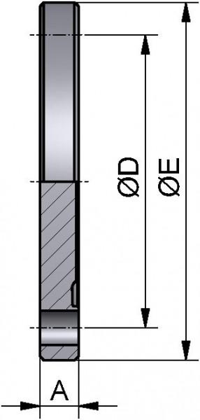 PharmCom Blindbundflansch, ISO, DIN 11864, 1.4435, 76,01mm