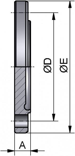 PharmCom Blindnutflansch, DIN, DIN 11864, 1.4435, DN 150
