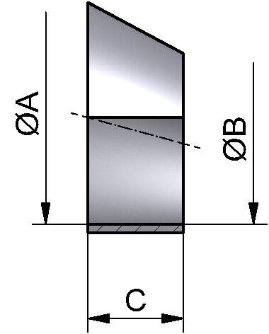 Reduzierstück SS exz., DIN 11852, AISI 316L mb., DN 100/80
