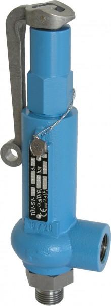 """Normal Feder Sicherheitsventil Type 10.1A, 3/8"""" x 1/2"""", metallisch"""