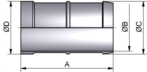 Schlauchtülle, BIER, AISI 304 pol., DN 65