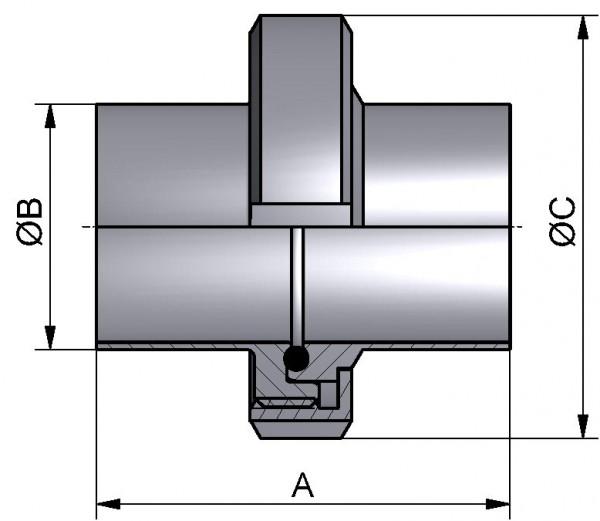 PharmCom Verschraubung, DIN, DIN 11864, 1.4435, DN 15 (19x1,5mm)