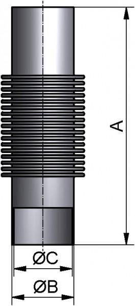 Kompensator, DIN, PN 10, AISI 316L mb., DN 32, L 200mm