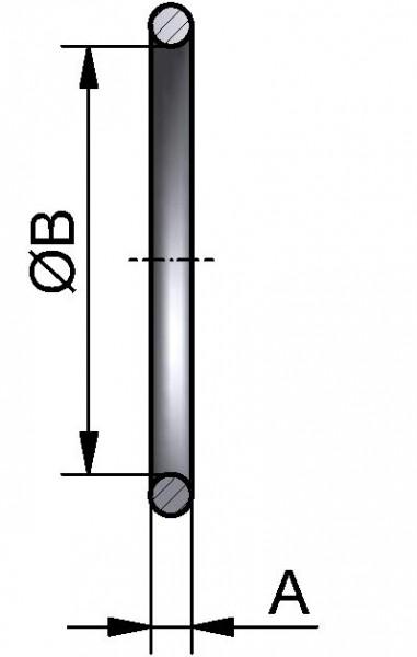 """PharmCom O-Ring, ASME, DIN 11864, 1,5"""", HNBR"""