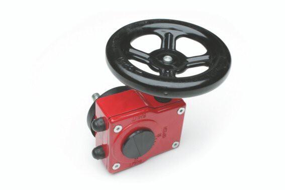 Sigeval-Schneckengetriebe mit Handrad  zu Sigeval-Absperrklappen DN250 - DN300