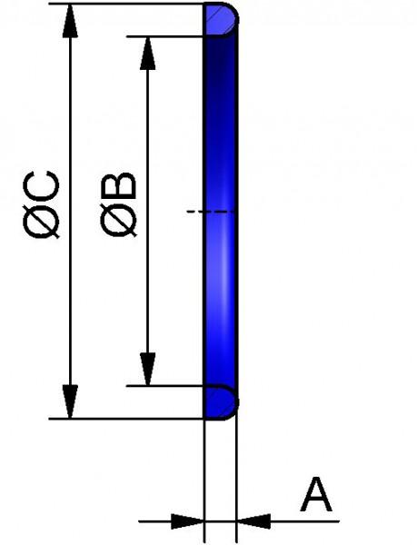 Dichtring G, NBR (PERBUNAN), DN 200x7mm