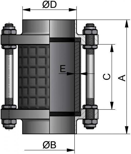 "Schaulaterne, ZOLL-SS, AISI 316L bl., 2"", NBR, Borosilikatglas"