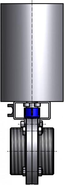 M&S Scheibenventil SV04, DIN-GG, AISI 316L bl., DN 80, EPDM