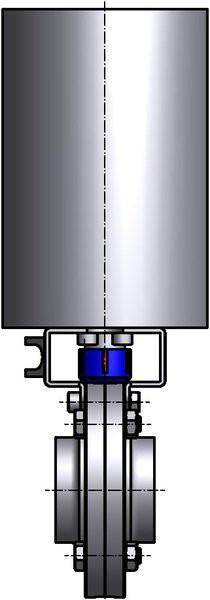 M&S Scheibenventil SV04, DIN-SS, AISI 304 bl., DN 20, Silikon (VMQ)