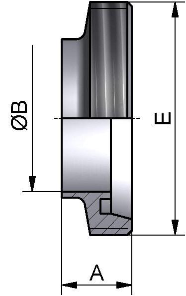 Gewindestutzen kurz, AISI 304 bl., DN 25 (28x1,5mm)