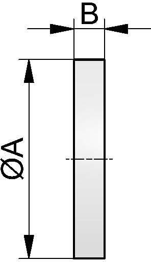 Schauglasplatte, BOROSILIKAT, DN 100 (118x15mm)