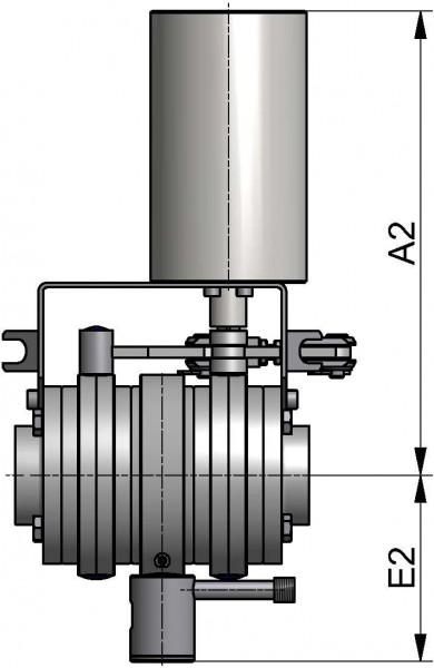 M&S Leckagescheibenventil LSV07, 1LV, DIN-ZF, AISI 316L bl., DN 65, HNBR