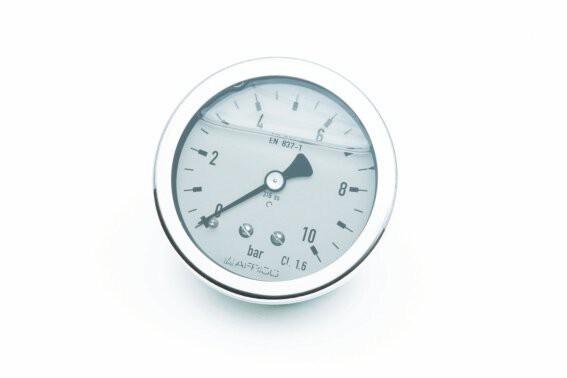 "Rohrfeder-Gly-Manometer, NG 100 mm, 0 - 1,6 bar, Kl. 1,6, H 1/2"""