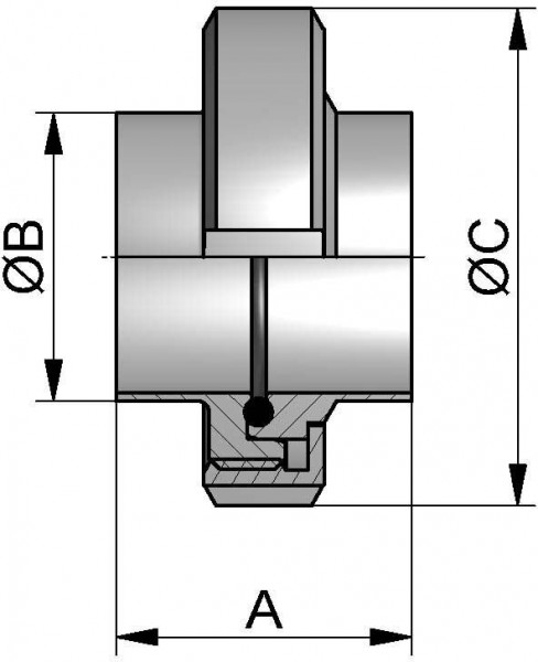 """HyCom Verschraubung, ASME, DIN 11853, AISI 304L, 2,5"""" (63,5x1,65mm)"""