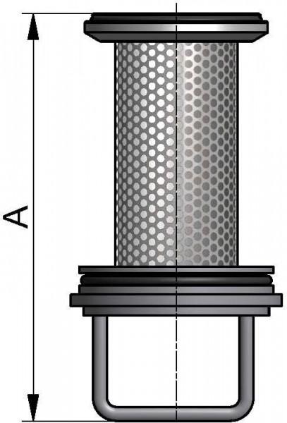 Siebeinsatz Schmutzfänger, AISI 316L pol., DN 32, EPDM