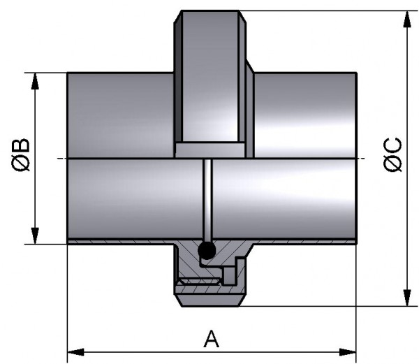 "PharmCom Verschraubung, ASME, DIN 11864, 1.4435, 1,5"" (38,1x1,65mm)"