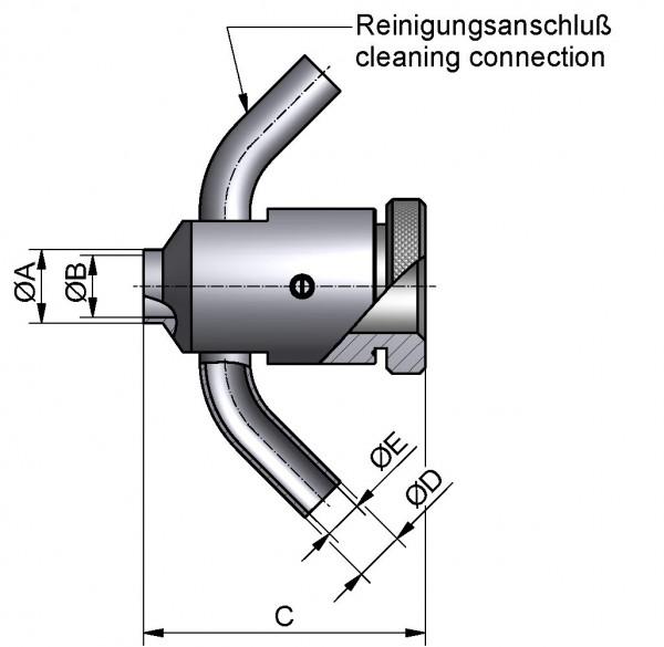 Probenehmer mit Stopfen, AISI 304 pol., DN 40, Silikon (VMQ)