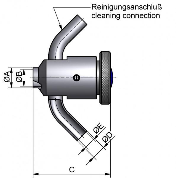 Dichtsatz für Probenehmer mit O-Ring abflammbar, DN 15-40, FKM