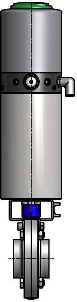M&S Scheibenventil SV04, ISO-SS, AISI 316L bl., 42,4mm, FKM