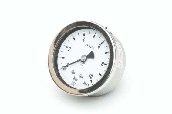 "Rohrfeder-Chemiemanometer-VA, NG 63 mm, 0 - 16 bar, Kl. 1,6, H 1/4"""