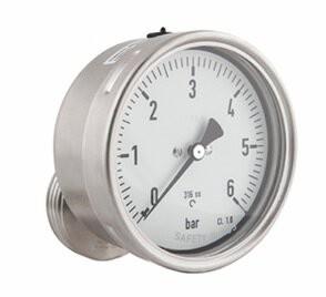 Membrandruckmittler, MD 50, NG 100mm, 0 - 1,6 bar, Kl. 1,0, Gly, K/M, DN 25, HEX